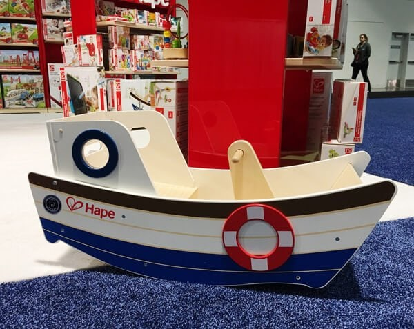 Hape Wooden Rocking Boat | Top Baby Products for 2017 from the ABC Kids Expo